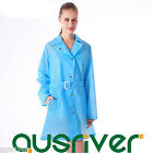 Clearence Premium Women Waterproof Anti-wind Raincoat with Hat for Hiking Blue M