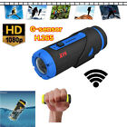 H.265 HD 1080P WiFi Sports Camera Waterproof Night Vision Action Camcorder Cam