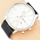 New Women Men Business Quartz Dial Analog Real Leather Couple Casual Wrist Watch