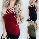 Women Hollow Out Vest Strap Camisole Tank Tops Bouse Sleeveless T Shirts