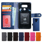 For LG G 9 8 7 6 5 4 3 V10 20 30 40 50 ThinQ Genuine Leather Cell Phone Case WC