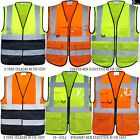 Hi Vis ViZ High Visibility Executive Vest Waist Coat 2 Two Tone Id Pocket S-5XL