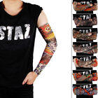 8 Styles Pick! 4psc of Fashion Cool Fake UV Tattoo Sleeves Body Arm Stockings