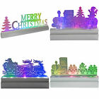 Pre-Lit LED Acrylic Table/Window Christmas Decoration Train Sleigh Multi Colour