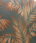 Arthouse Vintage Cressida Wallpaper - Copper Ferns / Leaves - Botanical - 673007