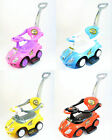 3in1 Push Bar Stroller Kids Ride On Car with Music Walking Walker Outdoor Toy