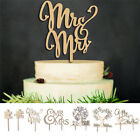 Personalised Wooden Mr & Mrs Engagement Wedding Cake Toppers Party Favours