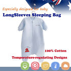 Baby Toddler Kid Long Sleeve Sleeping Bag Sleepsuit 4-12 months Cotton1.0 1.5tog