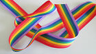 10mm 15mm 25mm 35mm GROSGRAIN RAINBOW RIBBON GAY PRIDE RIBBONS SOLD BY THE METRE