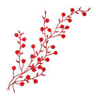 Repair Neck Lace Iron Applique Plum Fabric Embroidery Craft Patch Sewing Sew