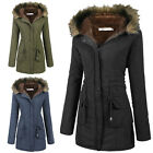 womens long winter coats - Womens Coats Warm Long Coat Fur Collar Hooded Jacket Slim Winter Parka Outwear