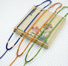 New Vintage Women Handmade Weave Wire Pendant Cord Long Necklace Findings 3mm