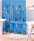 Shower Curtain Tropical Fish Ocean Nautical Theme