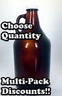 1/2 Gallon Amber Glass Jug  WITH CAP 64 oz. Growler - Car...