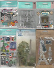 U CHOOSE  Assorted Jolee's Paper House Soft Spoken PARIS travel 3D Stickers