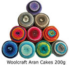 Woolcraft Cakes Aran 200g Knitting Wool / Yarn 20% Real Wool