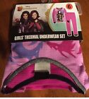 NWT Girls Disney's DESCENDANTS 2 Pc Thermal Underwear Set ~ Sizes 6 8 10 or 12