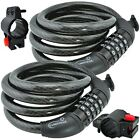 Lumintrail Security 4 Digit Combination Bike Cable Lock w/ Mounting Bracket