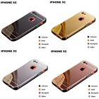Ultra-thin Aluminum Bumper PC Mirror Back Cover Case For Apple iPhone 5C