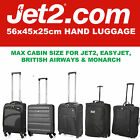 Jet 2 56x45x25 Taille Maximale Grand Cabine à Main Valise Bagage Sacs Aerolite