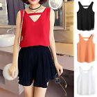 New Women Summer Vest Top Sleeveless Tee Shirt Blouse Casual Tank Tops T-Shirt A