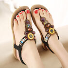 New Women Summer Leisure Beach Sandals Crystal beaded Shoes Casual Flat Sandals