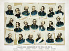 Famous Civil War Union Commanders 1861-65 Military History Wall Art Poster Decor