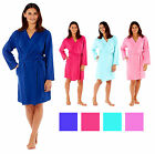 Ladies Kimono Wrap Jersey Cotton Dressing Gown Summer Bath Robe House Coat