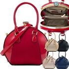 Ladies New Clam Clutch Shoulder Bag Purse Evening Glam Prom Patent
