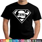 SUPER DAD Funny Daddy Husband Fathers Day Birthday Christmas Gift Tee T Shirt image