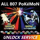 Pokemon Ultra Sun Moon Mail In Unlock Service All 807 Shiny Battle Ready 3DS