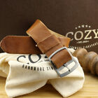 Vintage 401 One Piece Leather Watch Strap 18mm 20mm 22mm Perlon Style