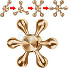 Six-Spinner Fidget Hand Spinner Brass Metal Finger Toy EDC Focus ADHD Autism New