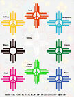 Peace, ZIA, NM, New Mexico Flag, Vinyl Stickers, 15 sizes, 9 colors