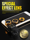 Super Wide Fish Eye Macro Fill in light Lens for mobile phones, 4 in 1 Effects