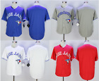Toronto Blue Jays Blank Vintage Retro Baseball Jersey Men Throwback STITCHED
