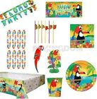 24 GUESTS - HAWAIIAN TROPICAL ISLAND LUAU SUMMER TABLEWARE DECORATIONS KIT