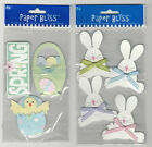 U CHOOSE  Assorted Paper Bliss EASTER 3D Stickers bunnies chick basket spring
