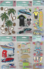 U CHOOSE  Assorted Jolee's BEACH & WATER FUN 3D Stickers waves tiki boating