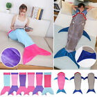 UK Kids Shark Mermaid Tail Fleece Blanket Soft Snuggle-in Sleeping Bag Costume