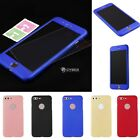 360° Protective Hard Thin Phone Case Cover Tempered Glass Flim Screen DZ8802