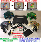 N64 Nintendo 64 Console WITH BRAND NEW CONTROLLERS - SMASH BROS MARIO KART SUPER фото