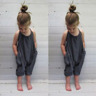 Toddler Kid Baby Girls Straps Rompers Jumpsuits Piece Pants Clothing Outfits