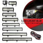 4/7/9/12/14/17/20/22/28Inch LED Light Bar Offroad Driving Lamp Work SUV CAR 4WD
