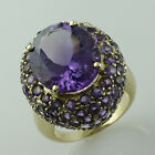 Amethyst 8.15 Ct. Cocktail Ring Solid 925 Silver Amazing Lady Eternity Jewelry