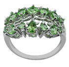 T Savorite 1.42 Ct. Ring Natural 925 Sterling Silver Authentic Event Top Jewelry