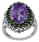 Amethyst 5.20 Ct. Natural Ring Eternity 925 Silver Amazing Lady Event Jewelry