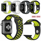 Soft Silicone Rubber Strap Wristwatch Band for Apple Watch 1 2 Edition Sports US