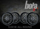 "18"" BOLA B4 BLACK 5 STUD 9.0J 4 DEEP DISH ALLOYS Skoda SUPERB 15-ON  CR"