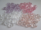 6 Lovely Clear Cut Round  Buttons Transparent Buttons 13mm Assorted Colours